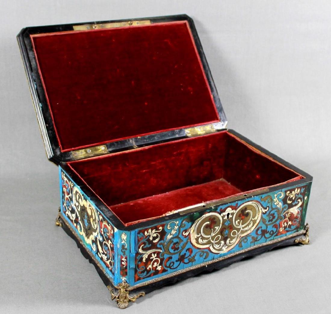 19th c. boulle lidded box - 2