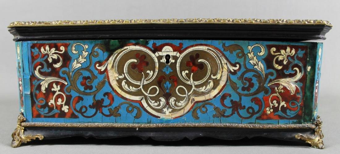 19th c. boulle lidded box - 4