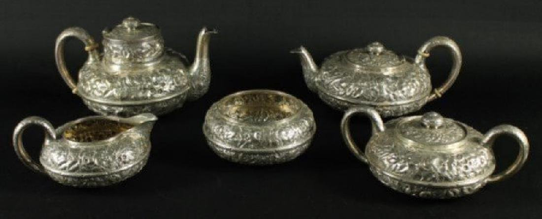 19TH CENTURY GORHAM ENGLISH SILVER STERLING 5 PIECE TEA