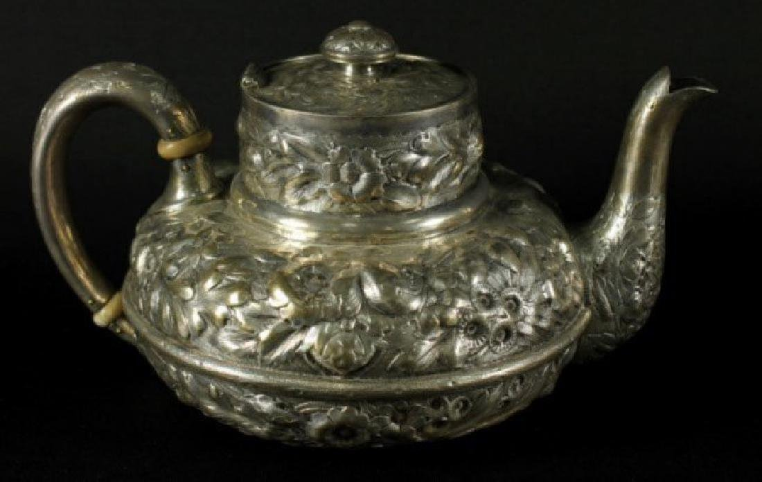 19TH CENTURY GORHAM ENGLISH SILVER STERLING 5 PIECE TEA - 2