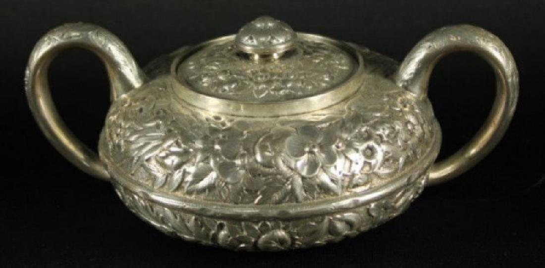19TH CENTURY GORHAM ENGLISH SILVER STERLING 5 PIECE TEA - 5
