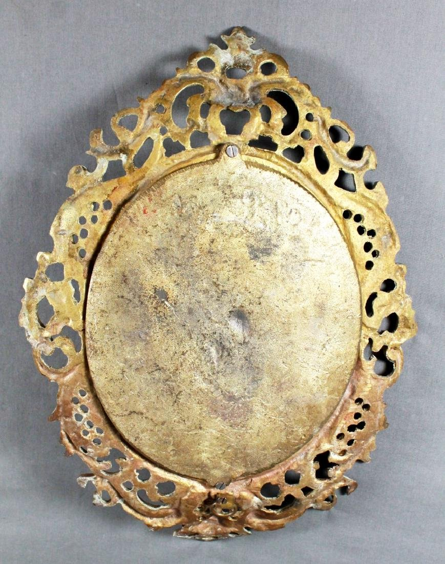 PAIR OF OVAL BRONZE PLAQUES - 4