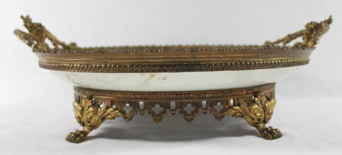 SEVRES STYLE TRAY WITH HANDLES - 2