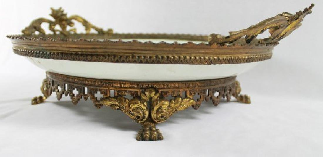 SEVRES STYLE TRAY WITH HANDLES - 8