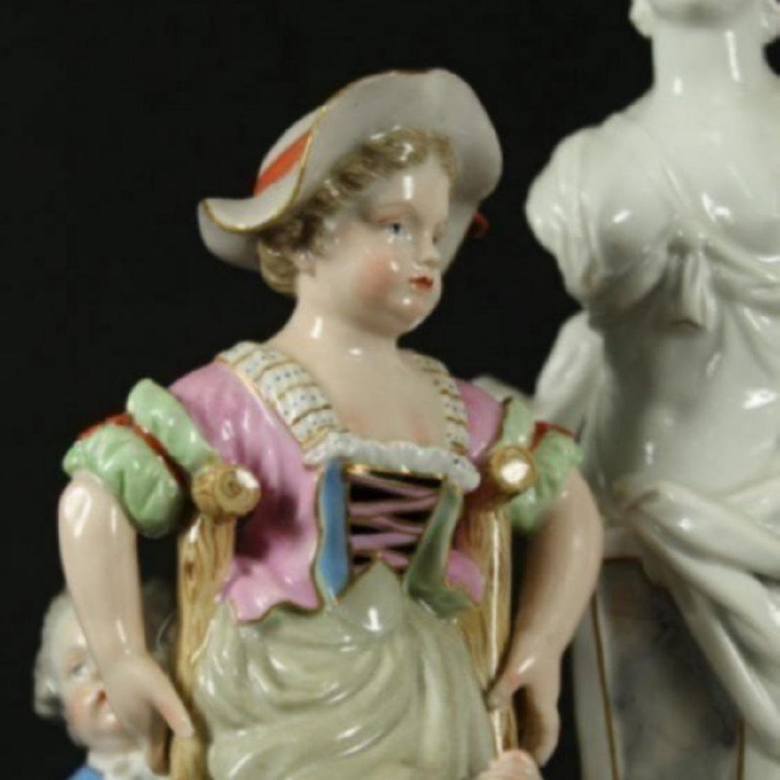 19TH C. POLYCHROME ENAMELLED MEISSEN GROUP - 3