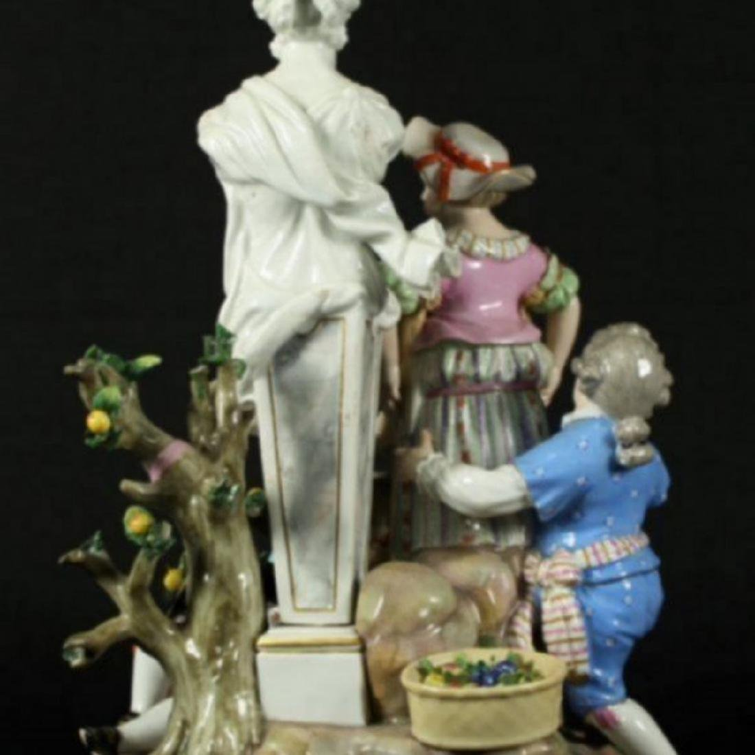 19TH C. POLYCHROME ENAMELLED MEISSEN GROUP - 6