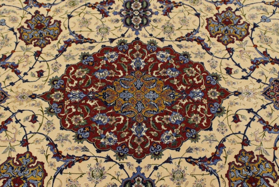 Persian ISFAHAN High-End Wool & Silk Traditional 5' x - 3