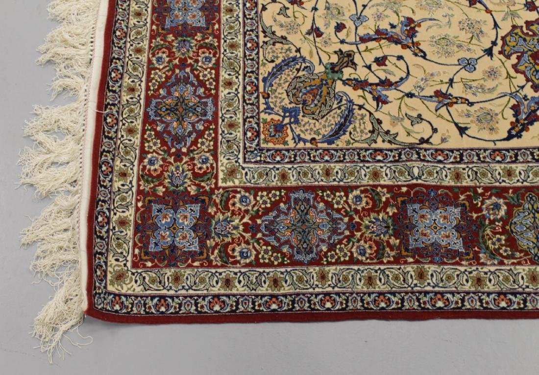 Persian ISFAHAN High-End Wool & Silk Traditional 5' x - 4