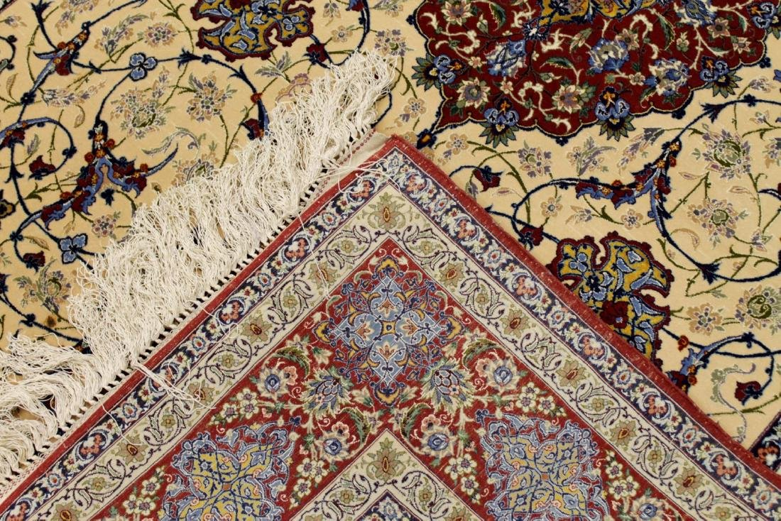 Persian ISFAHAN High-End Wool & Silk Traditional 5' x - 5