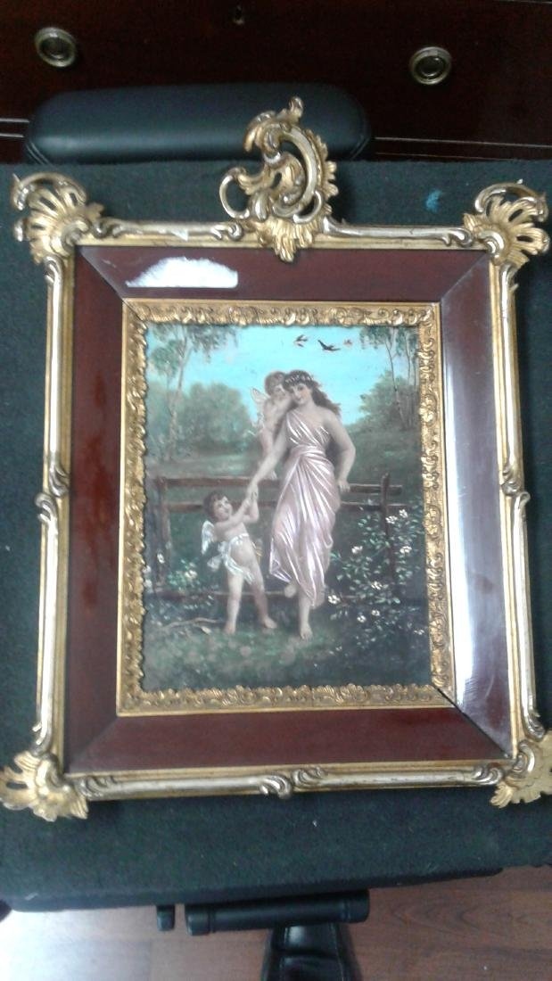 Wooden Painting of women