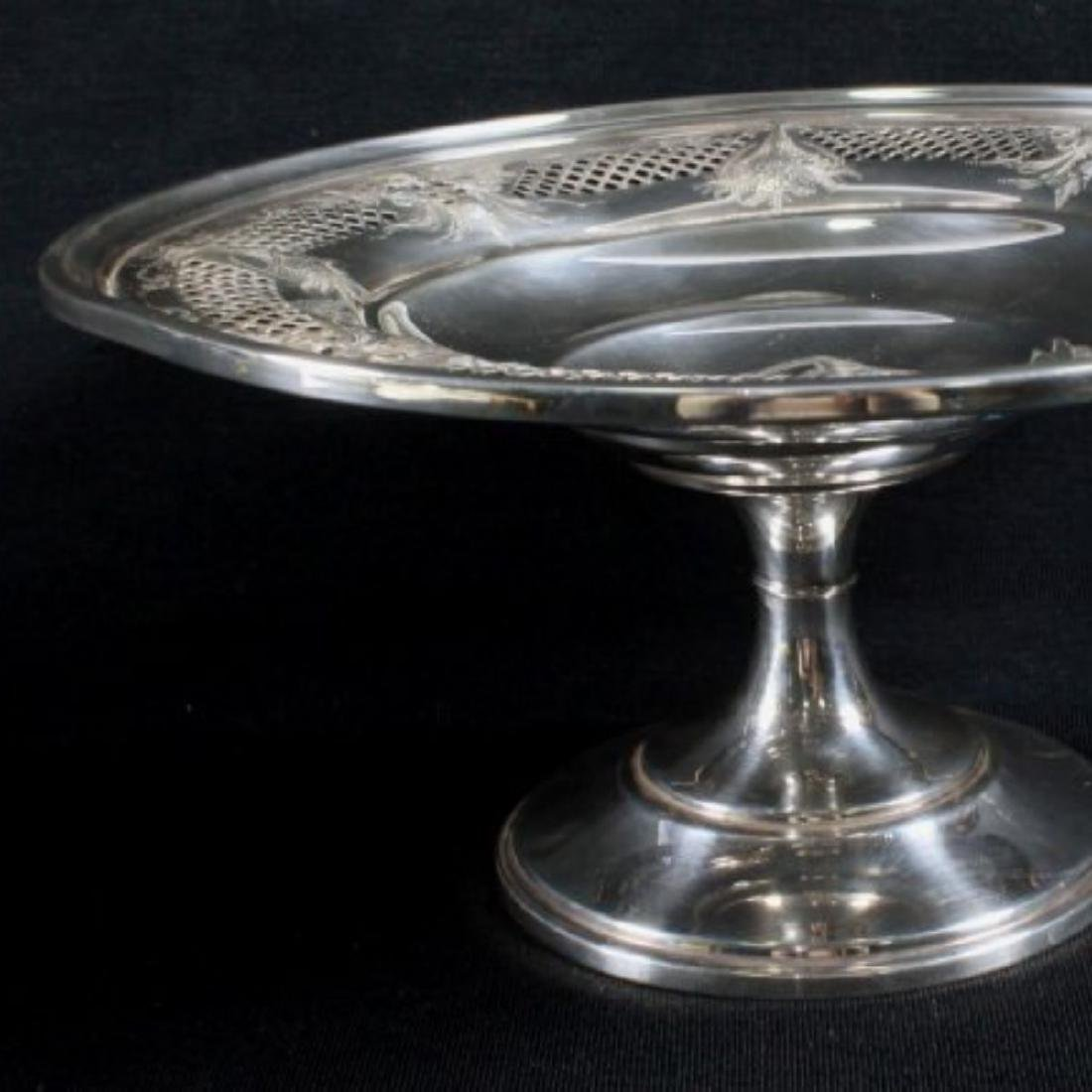 ANTIQUE STERLING SILVER TAZZA - 2