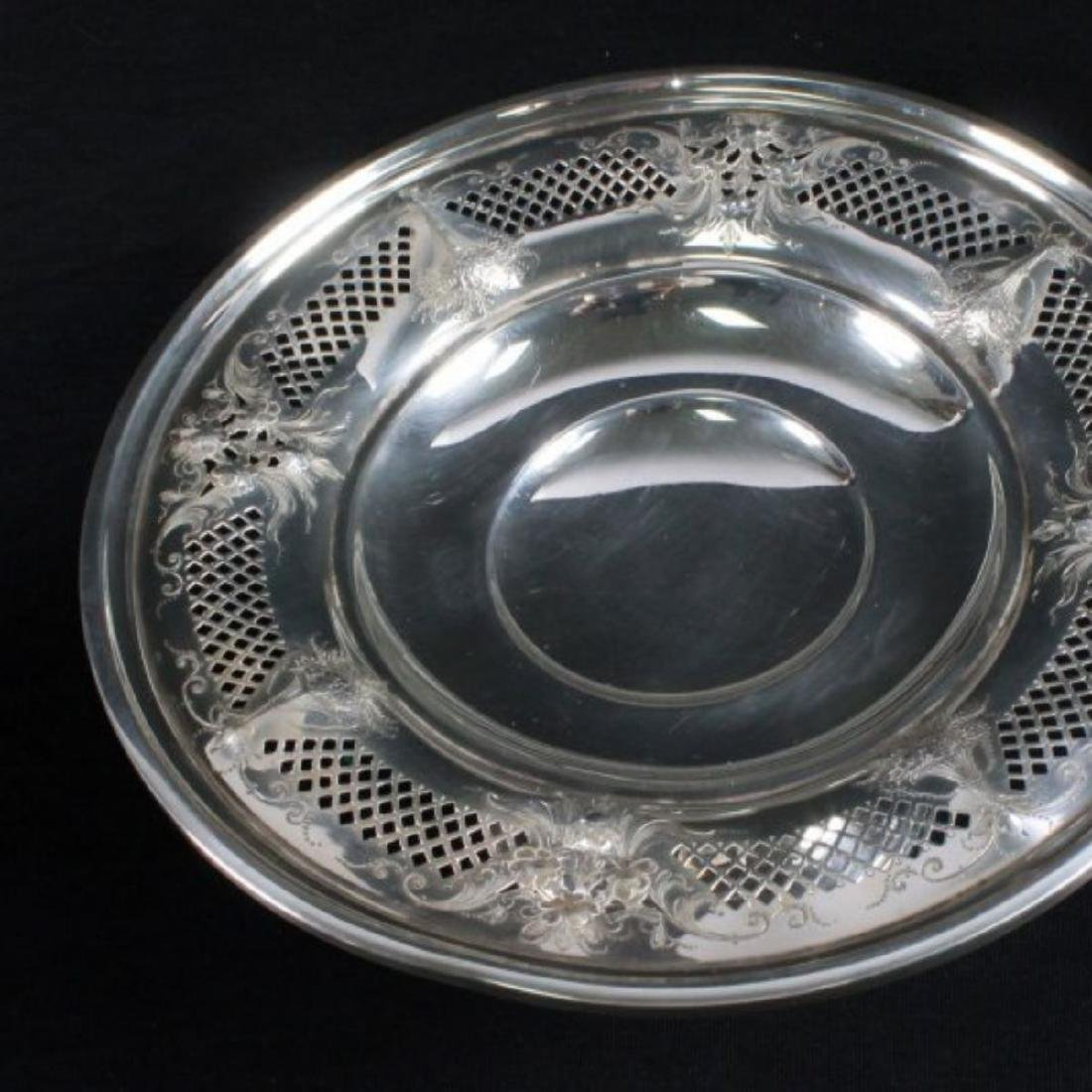 ANTIQUE STERLING SILVER TAZZA - 4
