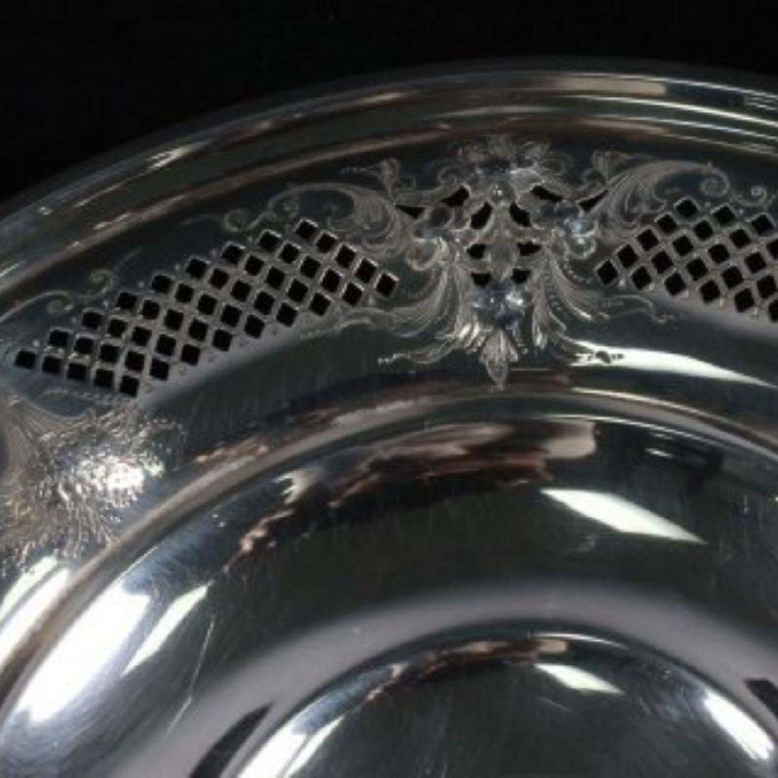 ANTIQUE STERLING SILVER TAZZA - 5