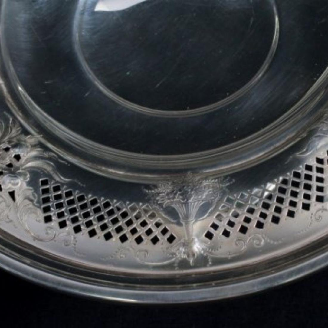 ANTIQUE STERLING SILVER TAZZA - 6