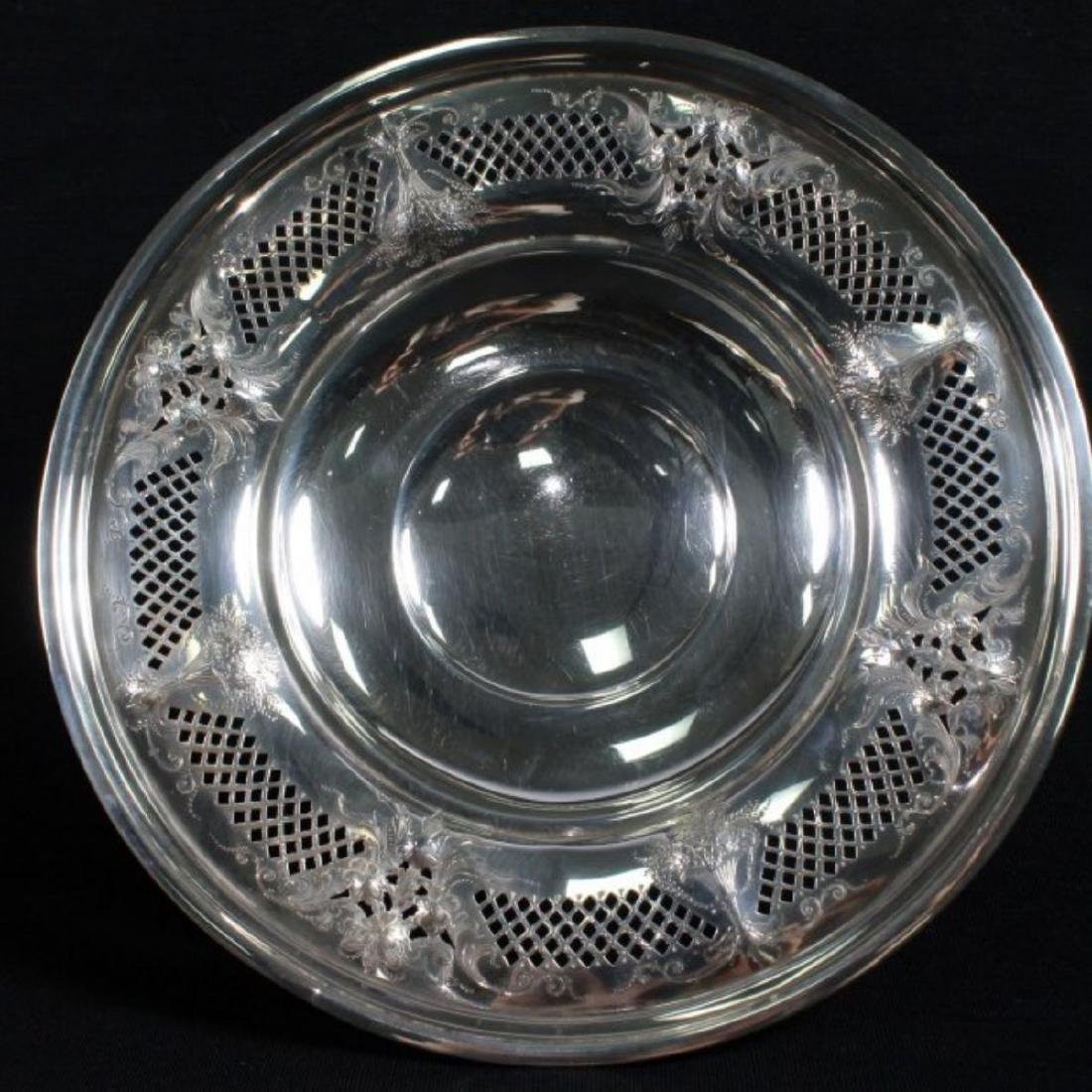 ANTIQUE STERLING SILVER TAZZA - 7