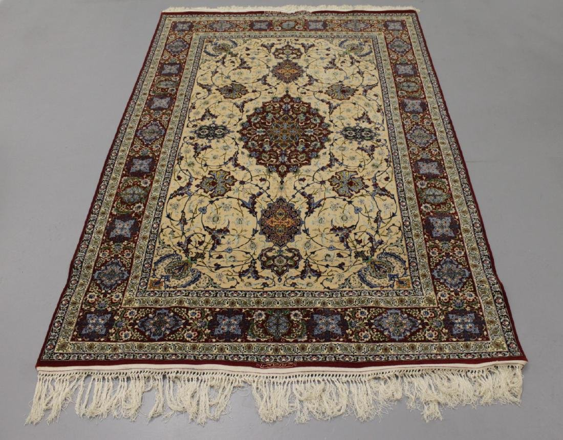 Persian ISFAHAN High-End Wool & Silk Traditional 5' x