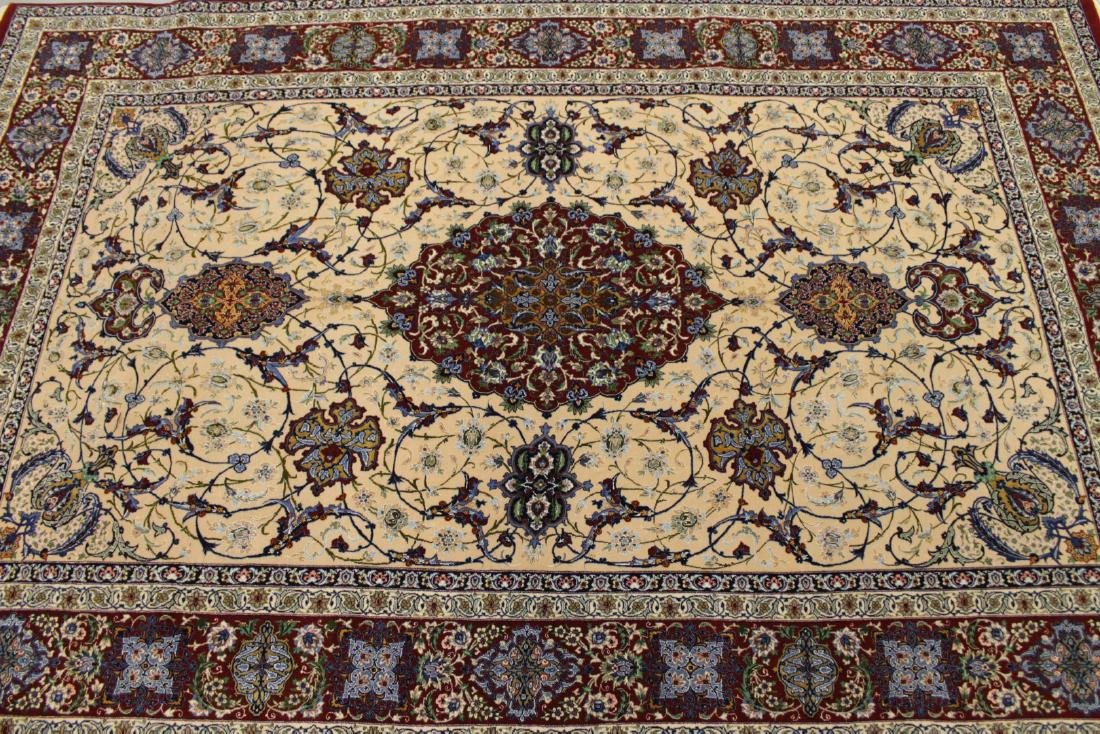 Persian ISFAHAN High-End Wool & Silk Traditional 5' x - 2