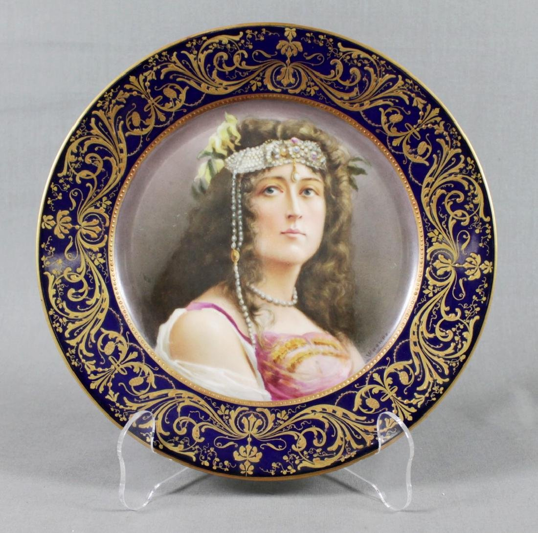 19TH C. SEVRES PLATE SIGNED WAGNER
