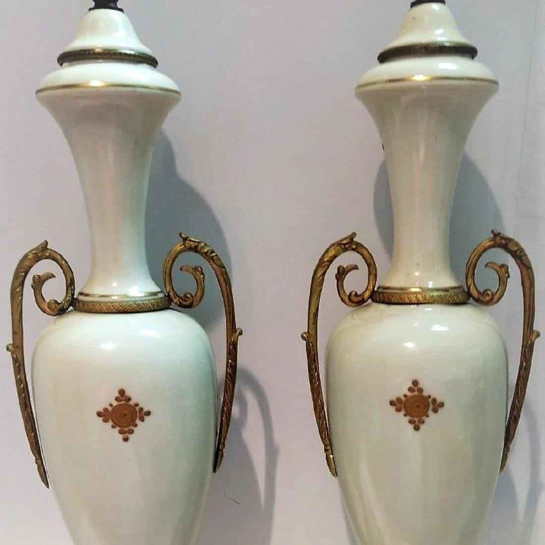 Pair of Hand Signed Painted French Sevres Porcelain - 2