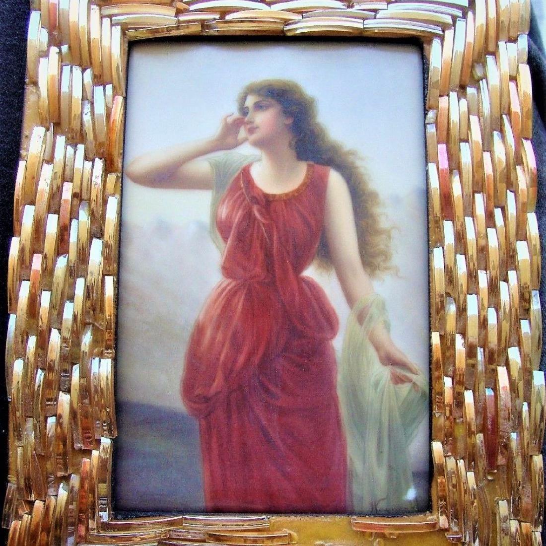 Antique Porcelain KPM Plaque Wagner