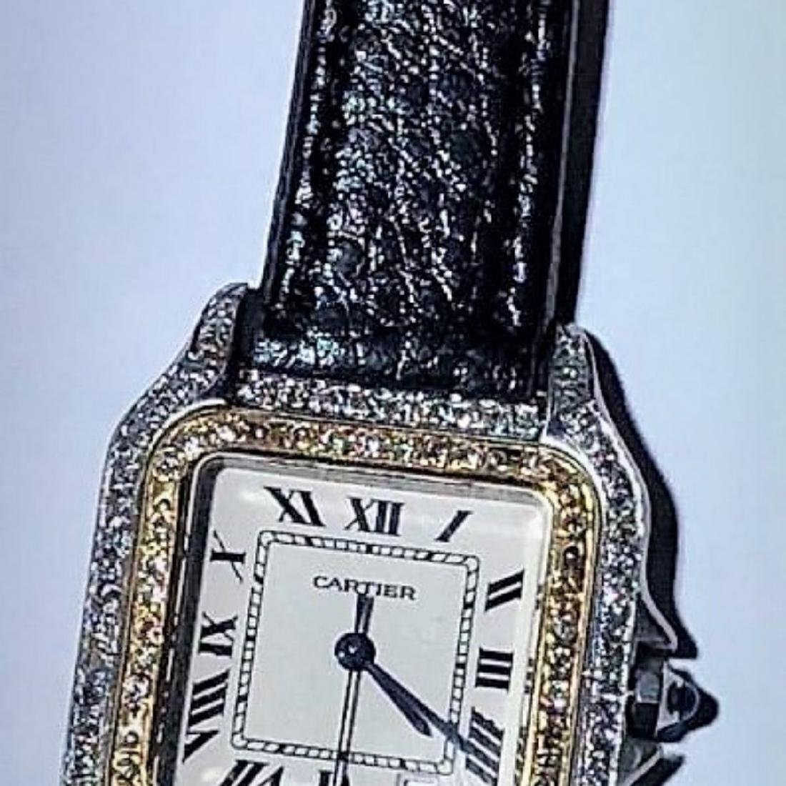 SS PANTHERE UNISEX TWO-TONE MENS MIDSIZE DIAMONDS 18K - 10