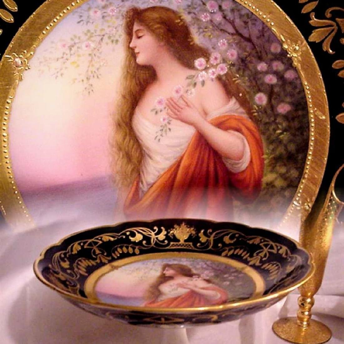 1800s HAND PAINTED MK SIGNED ROYAL VIENNA GODDESS