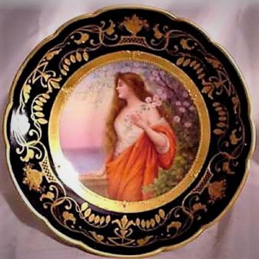 1800s HAND PAINTED MK SIGNED ROYAL VIENNA GODDESS - 4