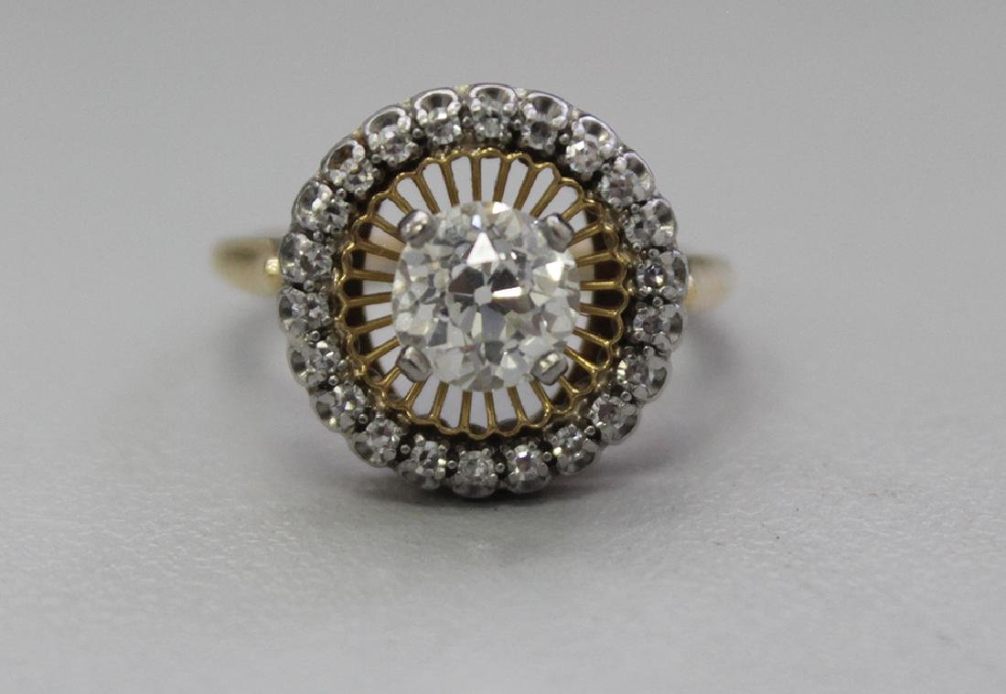 18K & DIAMOND ENGAGEMENT RING