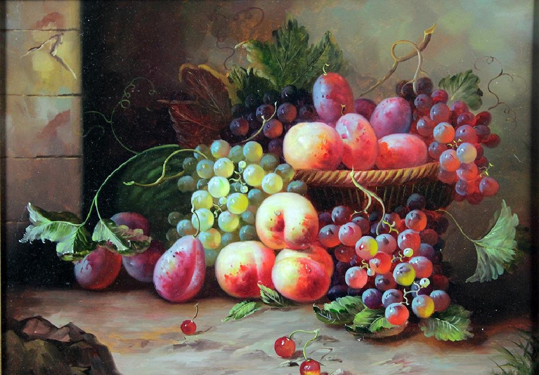 O/B STILL LIFE WITH FRUIT