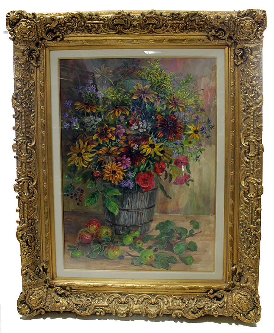 SCOTT: LARGE STILL LIFE WATERCOLOR