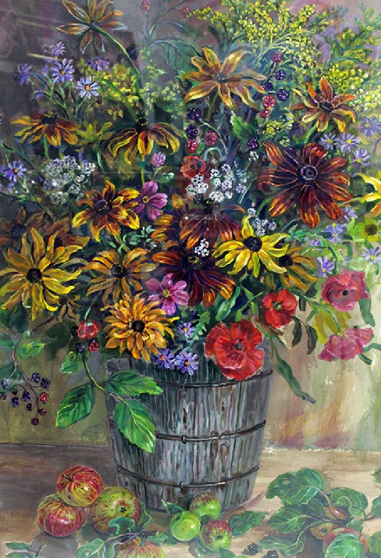 SCOTT: LARGE STILL LIFE WATERCOLOR - 3