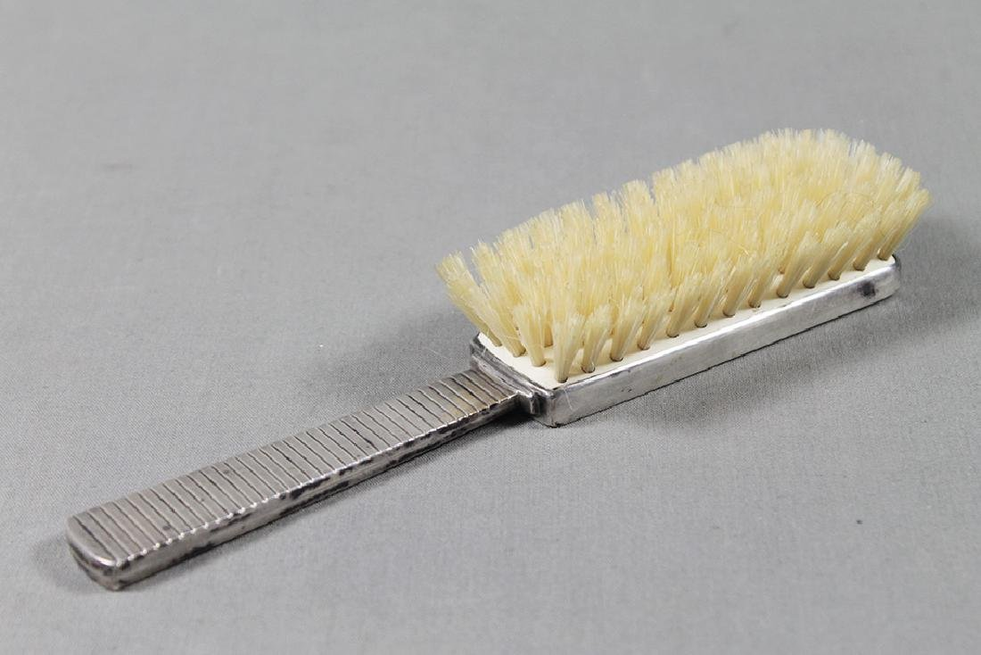 MODERN SILVER BRUSH AND MIRROR - 2
