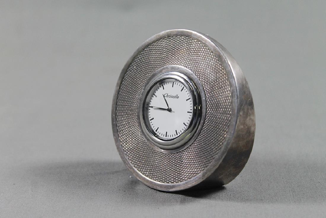 CHRISTOFLE DESK CLOCK - 3