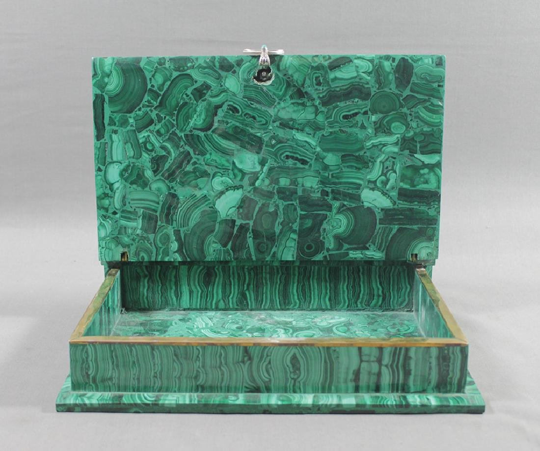 RUSSIAN MALACHITE JEWELED BOX