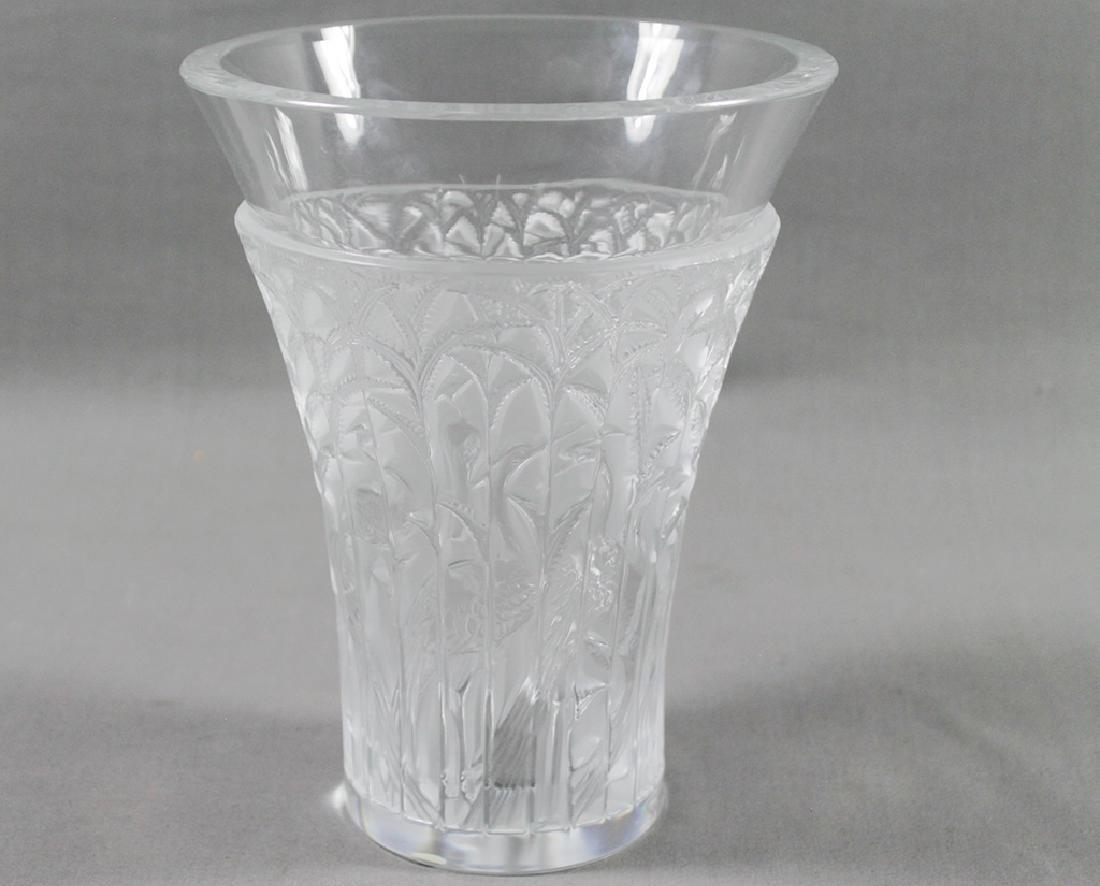 LALIQUE GLASS VASE - 3