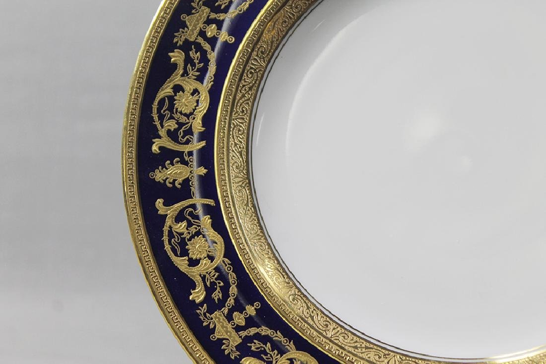TWELVE GILT RIM HAVILAND DISHES - 2