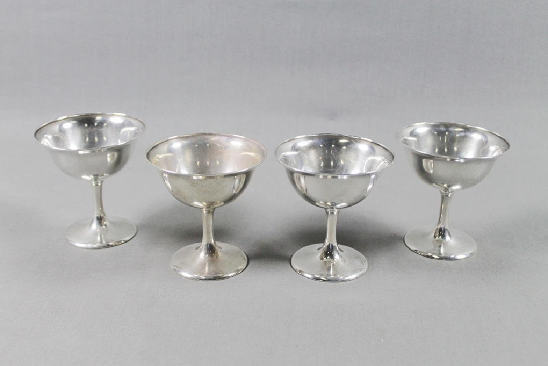 FOUR STERLING SHERBETS