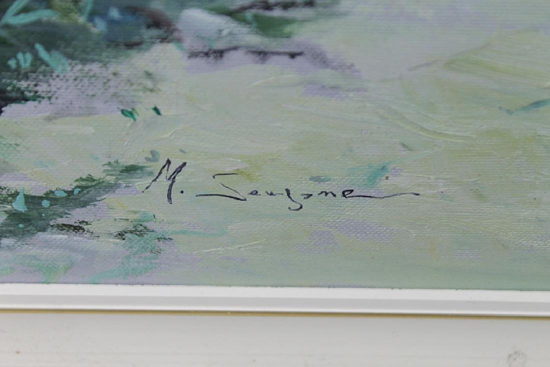oil on canvas coastal cityscape - 3