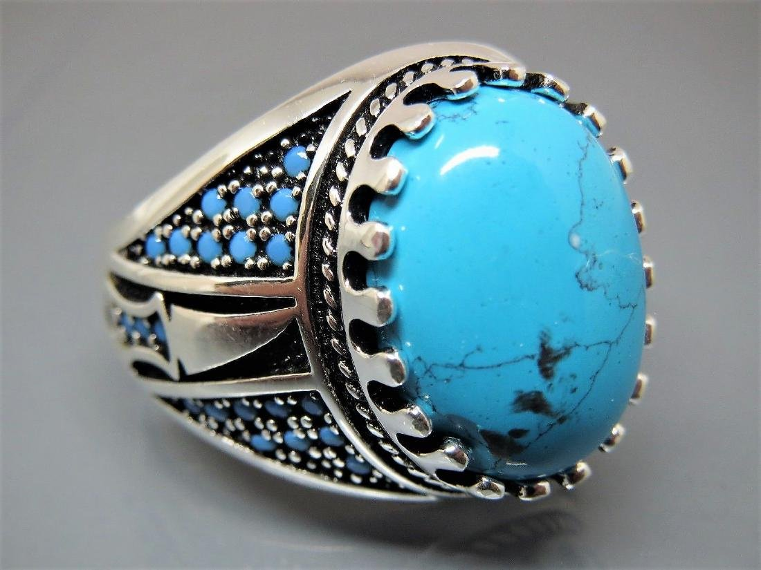 TURKISH HANDMADE JEWELRY 925 STERLING SILVER TURQUOISE