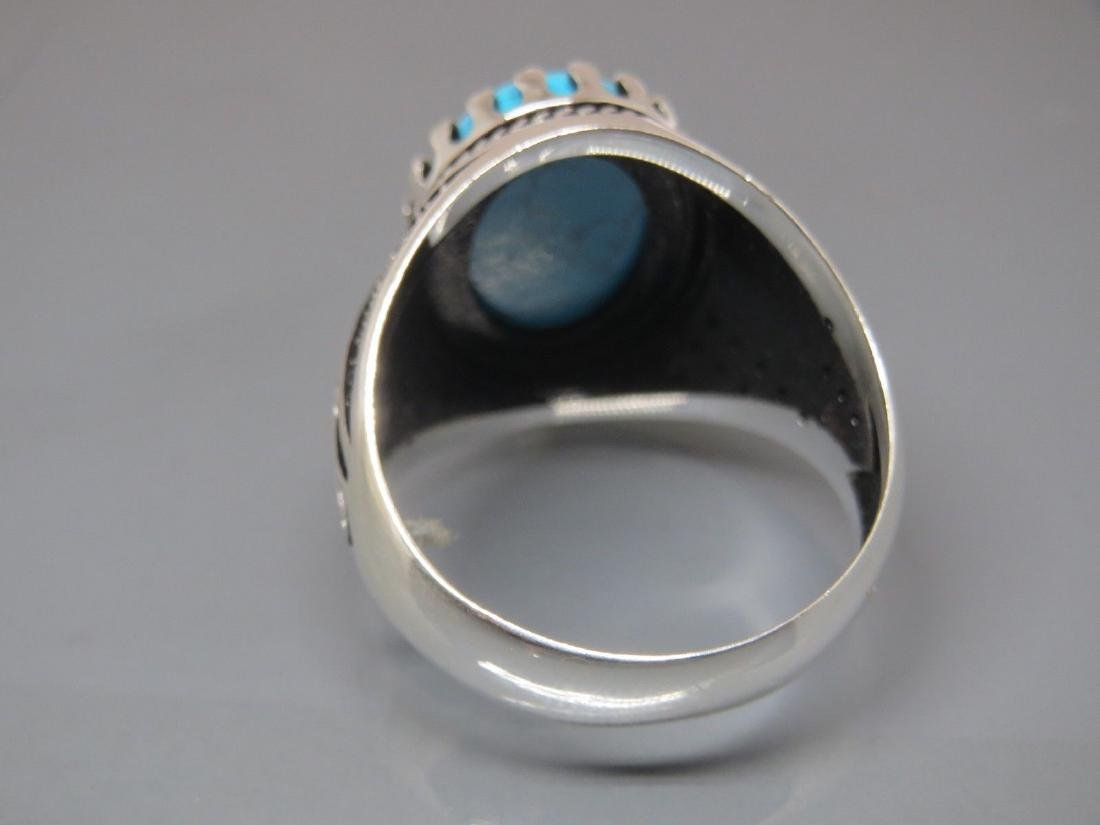 TURKISH HANDMADE JEWELRY 925 STERLING SILVER TURQUOISE - 5