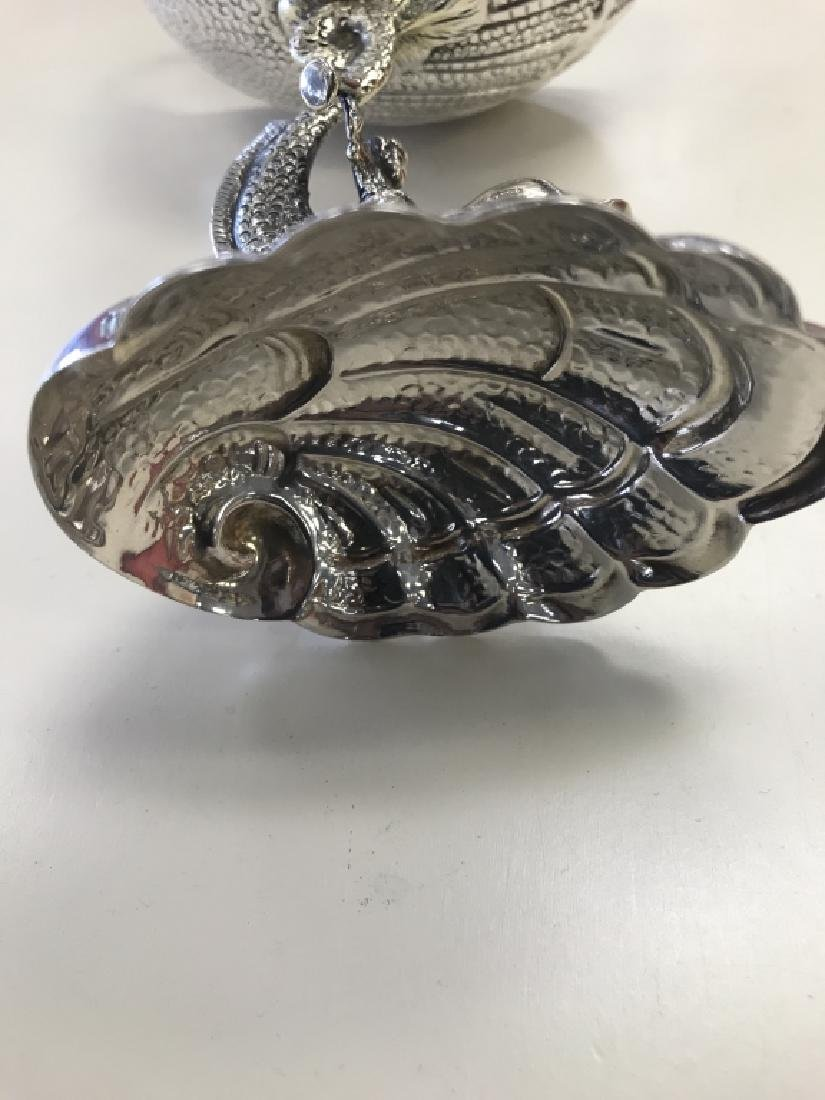 Pair of Sterling Monkey Riding a Dolphin Cups - 4