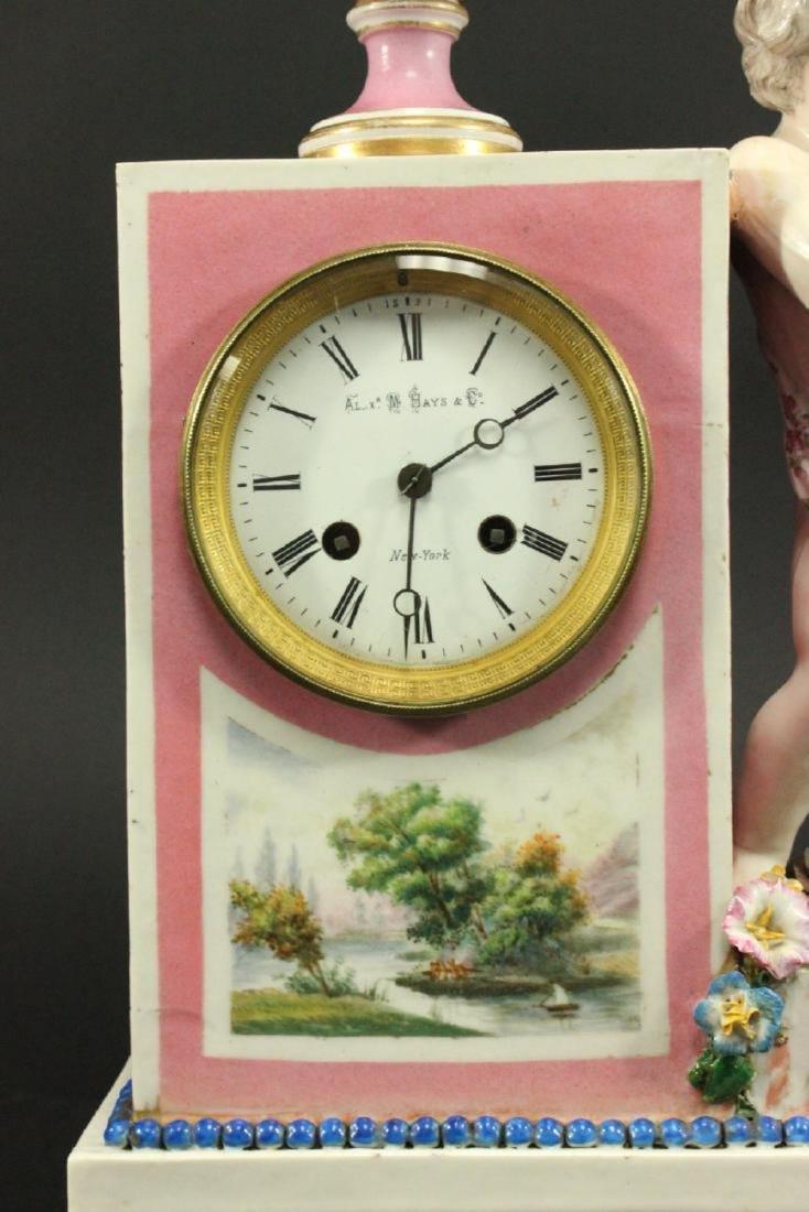 Porcelain Figural Clock - 2