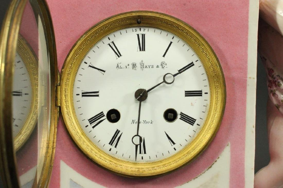 Porcelain Figural Clock - 3
