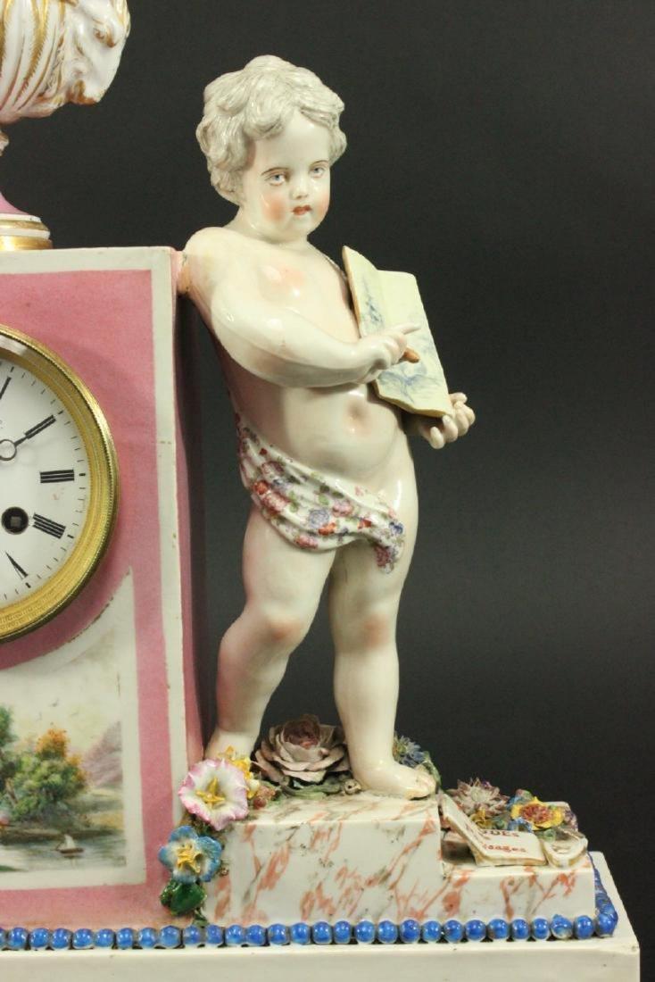 Porcelain Figural Clock - 6
