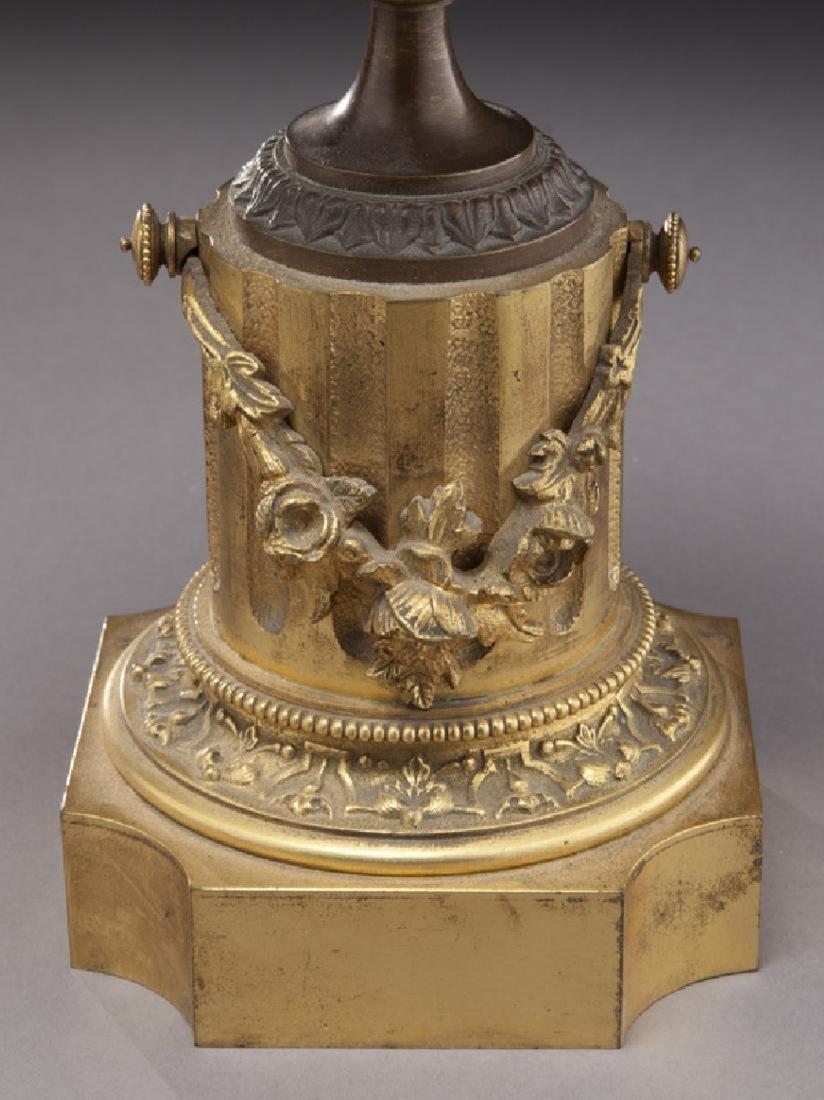 Pr. gilt and patinated bronze tazza - 4