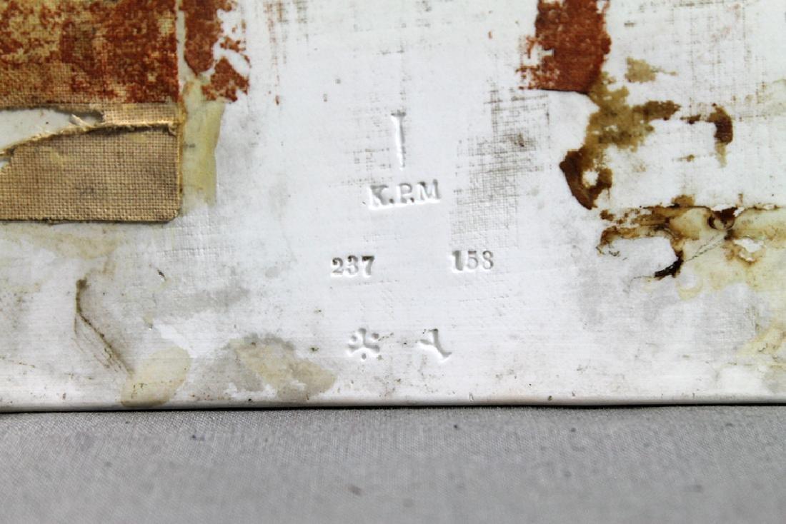 Berlin 'K.P.M.' Porcelain Rectangular Plaque, Echo - 6