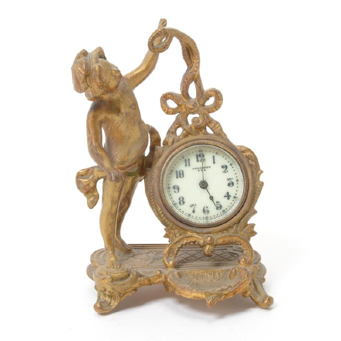 Three Louis XV Style Figural Clocks - 3