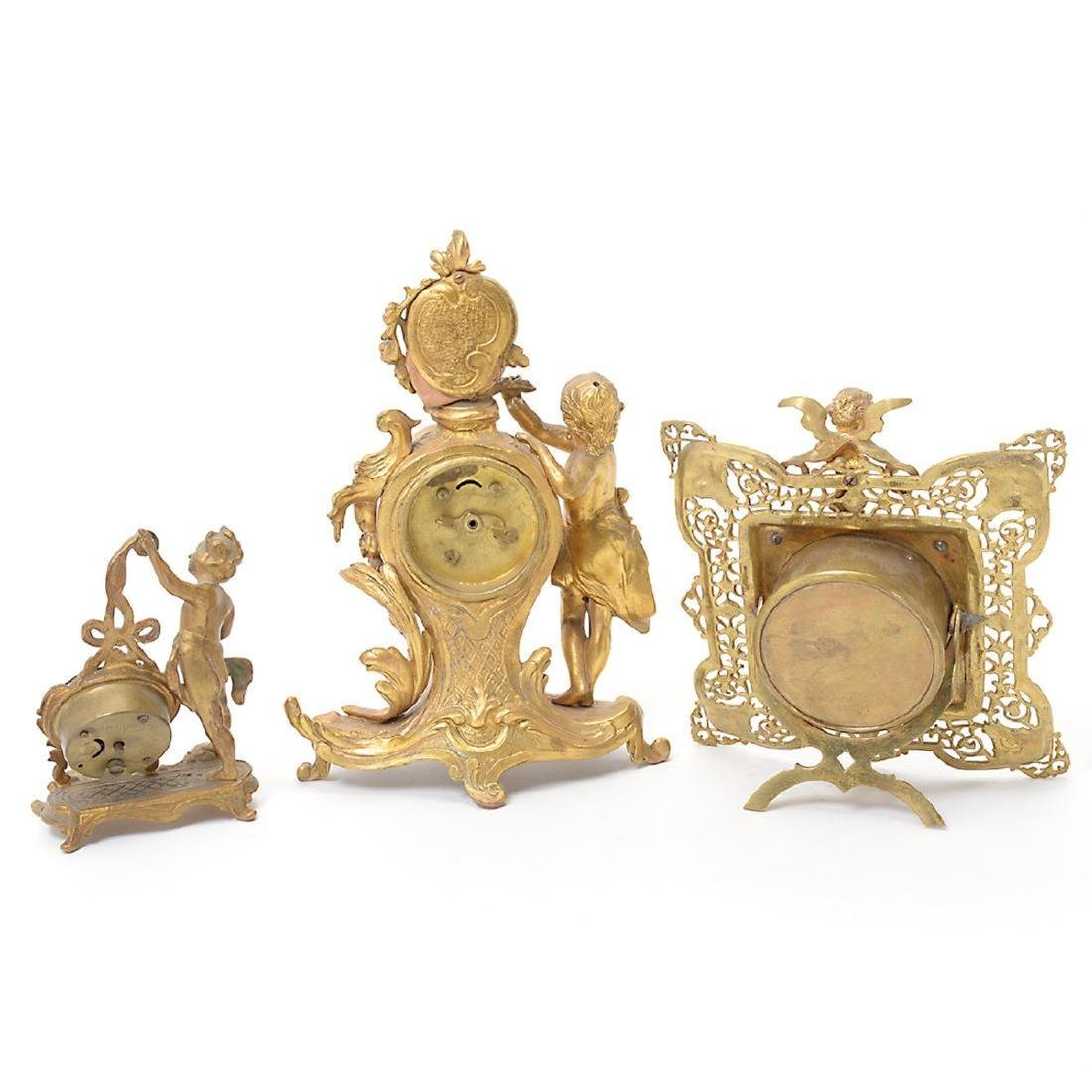 Three Louis XV Style Figural Clocks - 4