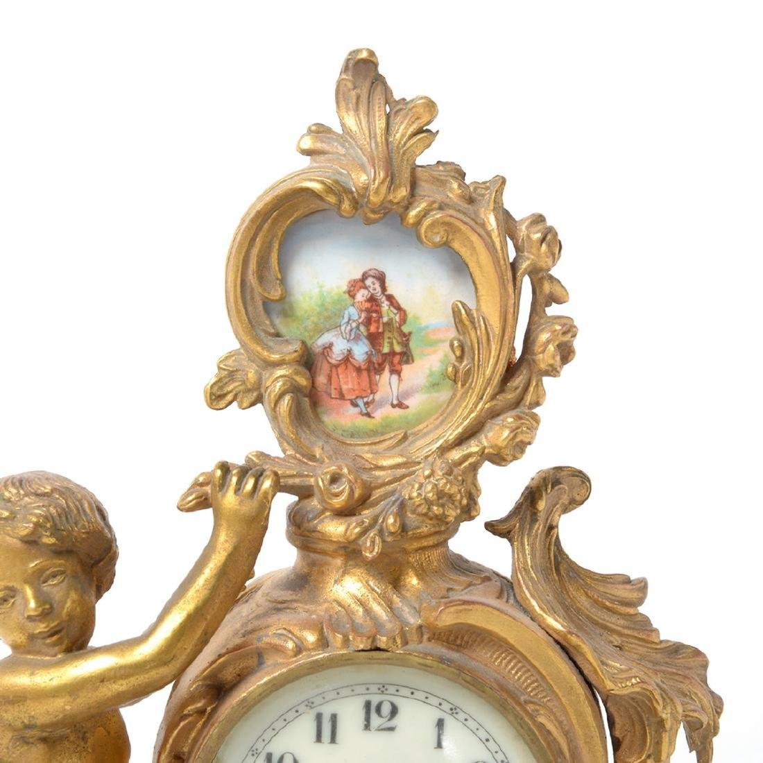 Three Louis XV Style Figural Clocks - 9
