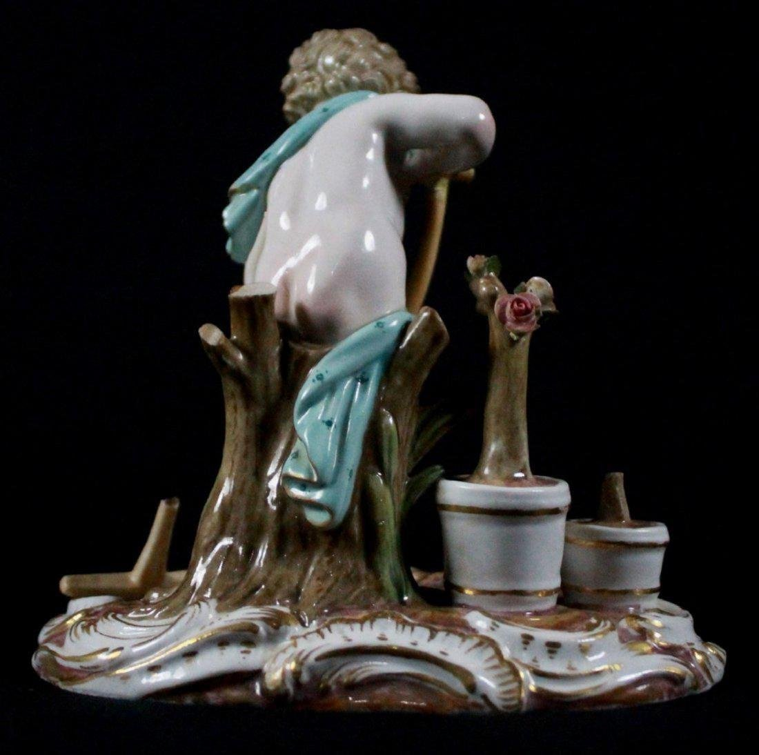 19th C MEISSEN FIGURE OF A GARDENER - 3